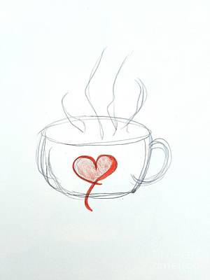Coffee Cup Love Poster