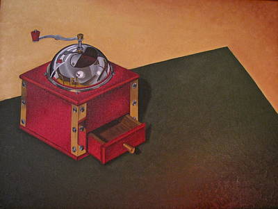 Poster featuring the painting Coffee Grinder by Lori Miller