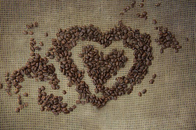 Coffee Heart Poster by Pamela Williams