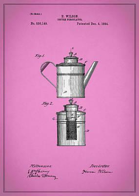 Coffee Percolator Patent 1894 Poster