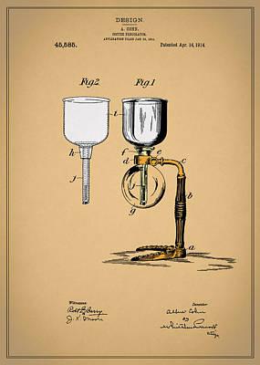Coffee Percolator Patent 1914 Poster