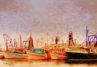 Poster featuring the photograph Coffs Harbour Fishing Trawlers by Wallaroo Images