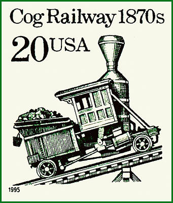 Cog Railway 1870s Poster by Lanjee Chee