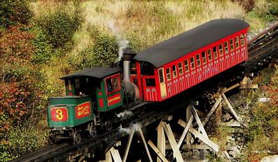 Cog Railway Vintage Poster