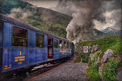 Cogwheel Steam Railway Poster by Hanny Heim