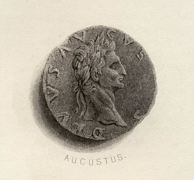 Coin From The Time Of Augustus Born Poster by Vintage Design Pics