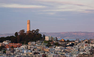 Coit Tower At Sunset Poster by Matt Tilghman