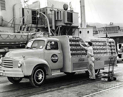 Coke Delivery Truck Poster