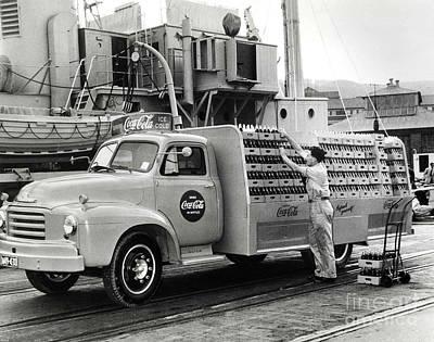 Coke Delivery Truck Poster by Jon Neidert