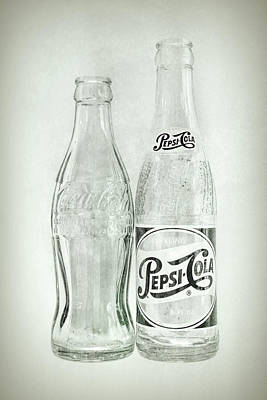 Coke Or Pepsi Black And White Poster by Terry DeLuco