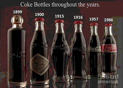 Coke Through Time Poster by George Pedro