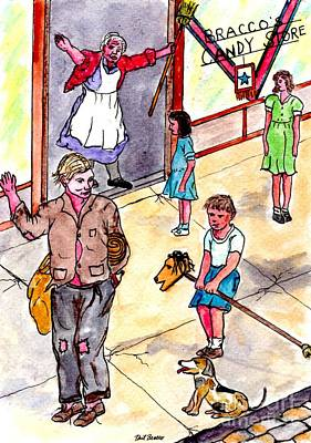 Cokkarella The Local Bum Saluting A Stray Dog Heil Hitler Poster
