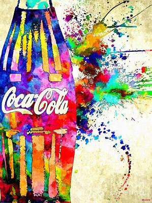 Cola Grunge Poster by Daniel Janda