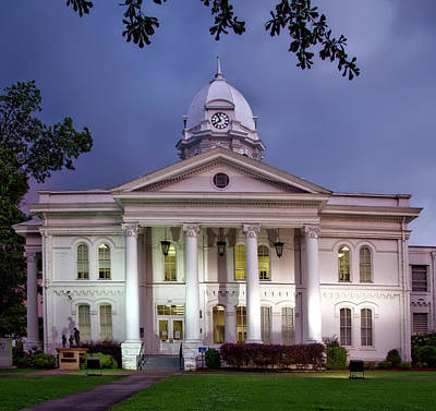 Colbert County Courthouse - Tuscumbia Alabama Poster by Mountain Dreams
