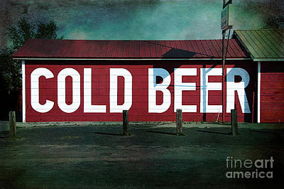 Cold Beer Poster by Terry Rowe