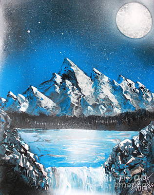 Poster featuring the painting Cold Blue by Greg Moores