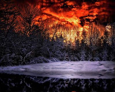 Cold Sunrise Poster by Bob Orsillo