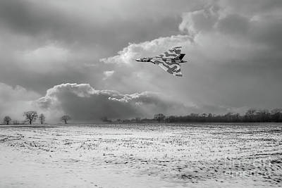 Poster featuring the photograph Cold War Warrior Bw Version by Gary Eason