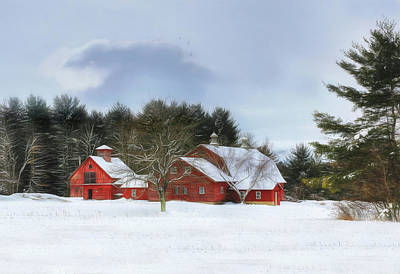 Poster featuring the digital art Cold Winter Days In Vermont by Sharon Batdorf
