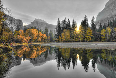 Cold Yosemite Reflections Poster by Mark Whitt