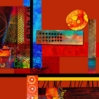 Collage Abstract 2 Poster by Patricia Lintner