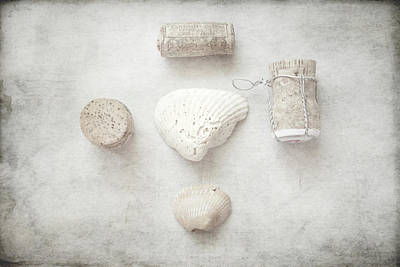 Collections 'seashells And Wine Corks' Poster by Toni Hopper