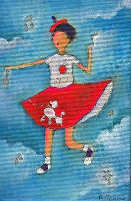 Colleen Dancing In Clouds Poster by Ricky Sencion