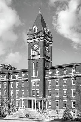 College Of The Holy Cross O' Kane Hall Clock Tower Poster by University Icons