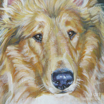 Collie Close Up Poster by Lee Ann Shepard