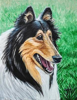 Poster featuring the painting Collie by Jennifer Hotai