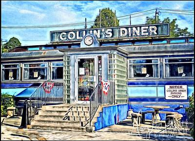 Collin's Diner New Canaan,conn Poster by MaryLee Parker