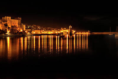 Collioure At Night Poster