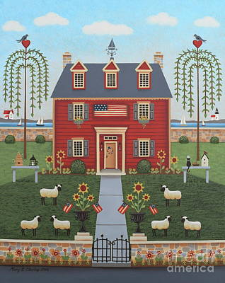 Colonial By The Sea Poster by Mary Charles