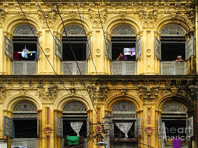 Colonial Facade Bo Soon Pat Street 8th Ward Central Yangon Burma Poster