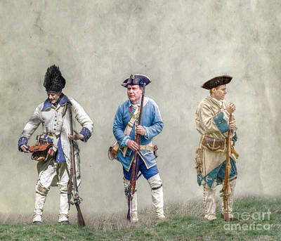 Colonial French Soldier Review Poster by Randy Steele