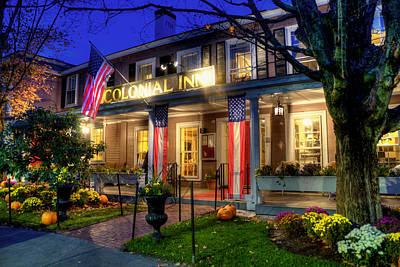 Colonial Inn Concord Ma -historic Sites Poster by Joann Vitali