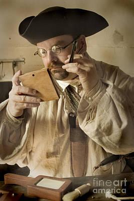 Colonial Man Shaving Poster by Kim Henderson