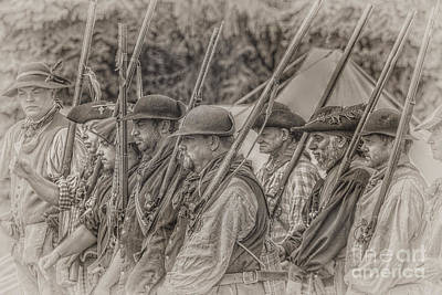 Colonial Militia Soldiers Poster