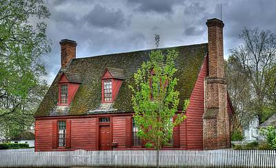 Colonial Williamsburg House 3 Poster