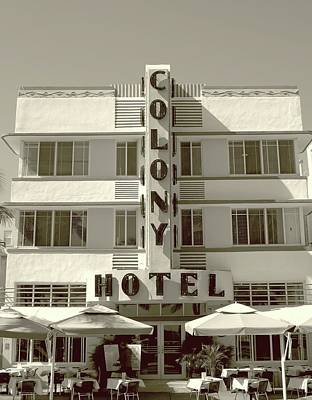 Colony Hotel South Beach Poster