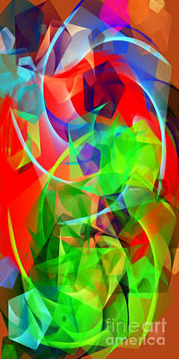 Poster featuring the digital art Color Dance 3720 by Rafael Salazar