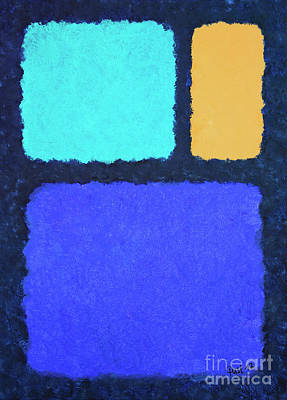 Poster featuring the painting Color Fields by Jutta Maria Pusl