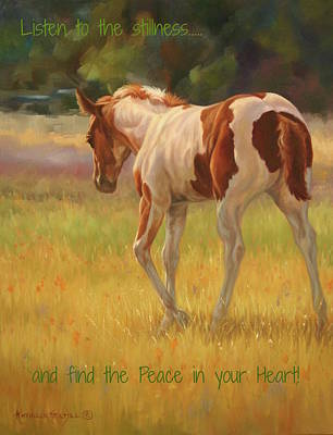 Color Foal And Quote Poster by Kathleen Hill