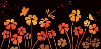 Color Game Series Orange Poster by Veronica Minozzi