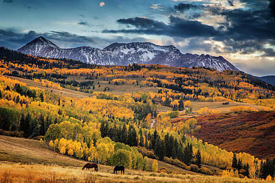 Colorado Autumn Poster by Andrew Soundarajan