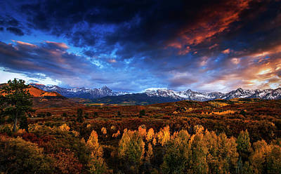 Colorado Autumn Panorama Poster by Andrew Soundarajan