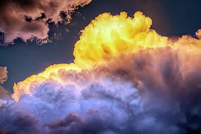 Colorado Cumulus Face Cloud Poster