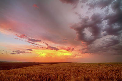 Colorado Eastern Plains Sunset Sky Poster by James BO Insogna