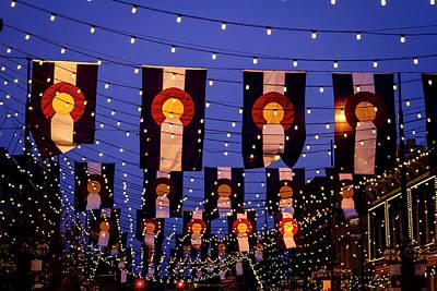 Colorado Flags On Larimer Square Denver Poster