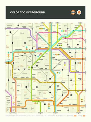 Colorado Map Poster